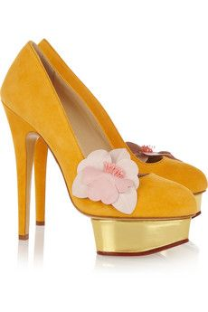 Charlotte Olympia—gorgeous spring colors! Not sure about balance on that platform though.