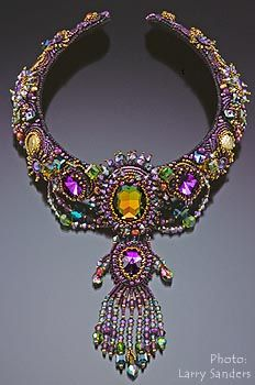 Sherry Serafini is another bead artist who inspired me to take up bead embroidery, and all of her work is amazing.