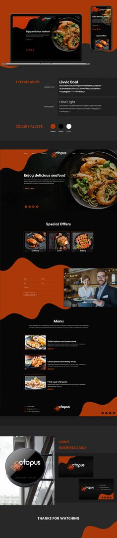 Web Design on Behance Mountain Mural, Mint Plants, Web Design, Kitchen Colour Schemes, Seafood Restaurant, Wooden Kitchen, Growing Herbs, Glass Containers, Classic House