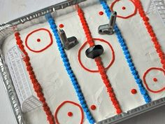 Ice Rink Birthday Cake - hockey party