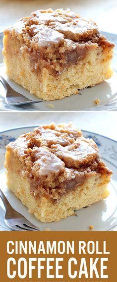Easy Cinnamon Roll Coffee Cake ♥