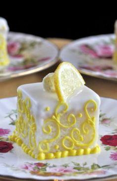 Lemon and Orange Glazed Petits Fours   The Hopeless Housewife®