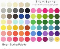 Bright spring colour Pallet