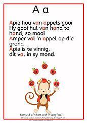 Voorskoolse alfabet blaaie om klein kinders die alfabet te leer.