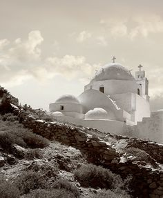 IOS, GREECE,  Typical island church. Photo By James Stanton