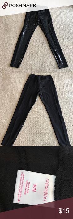 Xhilaration black sequin leggings. Sequins in front, plain in back. Xhilaration Pants Leggings