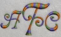 Curlz Fonts | Apex Embroidery Designs, Monogram Fonts & Alphabets