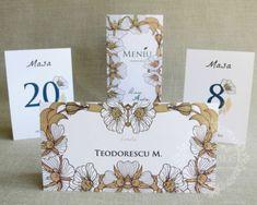 """Place-card / plicuri de bani nunta moderne, cu flori – """"IRENE"""" Place Cards, Place Card Holders"""