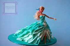 Frozen Doll Cake | Frozen Themed Doll Cake And Cupcakes.