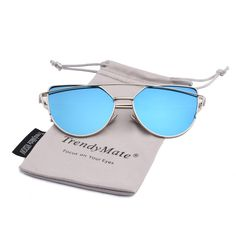 TrendyMate Womens Street Fashion Metal Twin Beam Flat Mirror Lens Cat Eye Sunglasses Description Express your cattiness with these super adorable cutout metal a