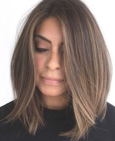 Medium Hair Styles, Short Hair Styles, Hair Medium, Medium Length Straight Hairstyles, Long Bob Cuts, Straight Long Bob, Thick Hair Long Bob, Blunt Cut Long Hair, Long Pixie