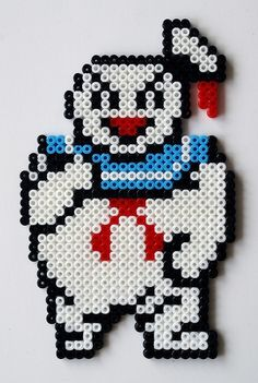 Marshmallow Man Ghostbusters perler beads: