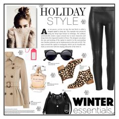 """HOLIDAY STYLE"" by alisijaa ❤ liked on Polyvore featuring мода, MuuBaa, MICHAEL Michael Kors, Burberry, Elie Saab, Jeffrey Campbell, Kate Spade, contest, leatherpants и contestentry"