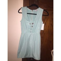 tight date party dress blue dress cute back Tobi Dresses Mini