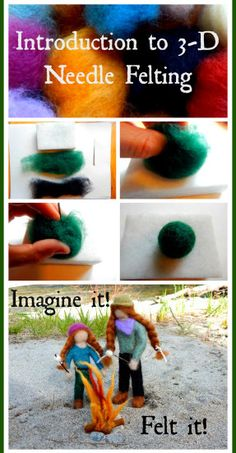 Follow this step by step tutorial and learn to needle felt--a freeing way to work with fiber!