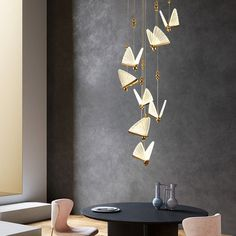 Modern Pendant Light, Chandelier Pendant Lights, Loft Staircase, Suspension Cable, Luminous Colours, Made To Measure Curtains, Butterfly Pendant, Butterfly Wings, Light Decorations