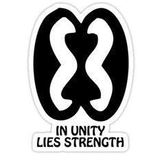 "strength symbols   Shirt Adinkra Symbol: Strength Through Unity"" Stickers by Keith ..."