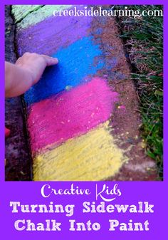 Summer Activities for Kids:  Make sidewalk chalk paint. #summerfun