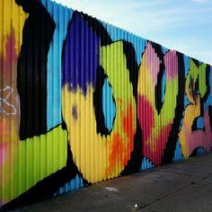 #LOVE graffiti in brooklyn