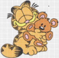 Dibujos Punto de Cruz Gratis: Garfield