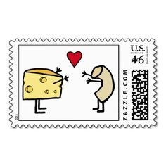 Macaroni & cheese postage stamp
