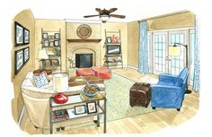 The Washington Post's House Calls is my favorite part of the Home section -- I am fascinated how designers can illustrate what a room will look like!