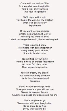 Charlie And The Chocolate Factory Song Lyrics