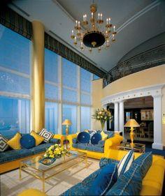 This is the Panoramic Suite of Burj Al Arab. Just look at those huge windows!