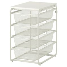 ALGOT Frame with 4 mesh baskets/top shelf - IKEA