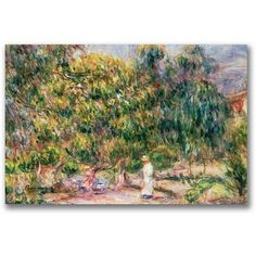 Trademark Fine Art Garden of Les Colettes Canvas Wall Art by Pierre Renoir, Size: 18 x 24, Multicolor