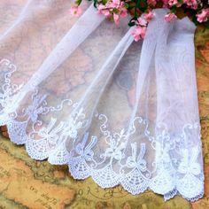Håndlaget Tilbehør Hvit sløyfe brodert Blonder Bredde 10 cm - Taobao Sewing, Dressmaking, Couture, Stitching, Full Sew In