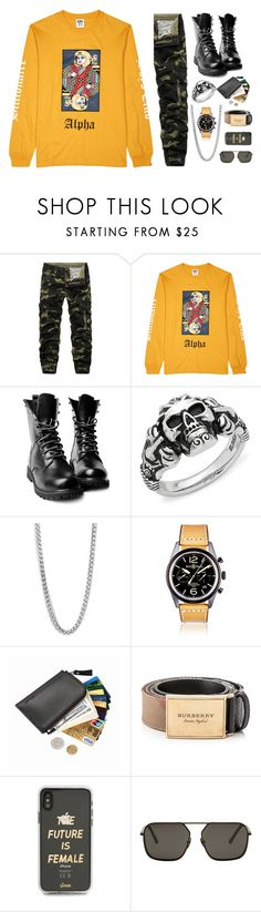"""""""Sick Boy"""" by sofemmeia on Polyvore featuring Billionaire Boys Club, Effy Jewelry, Perepaix, Bell & Ross, Burberry, Sonix and Dolce&Gabbana"""