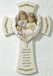 """Hush-A-Bye"" Religious Angel Wall Crosses.  An Angel's Touch, LLC, d/b/a WCF Commercial Green Cleaning Co., Denver's Property Cleaning Specialists!  http://angelsgreencleaning.net"