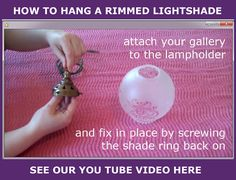 New blog with step by step advice on how to hang a Rimmed Light Shade along with our helpful video and clear instructions