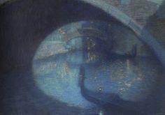 Lucien Levy-Dhurmer (Lucien Levy Dhurmer) (1865-1953)  Scene in Venice [Oil on canvas]
