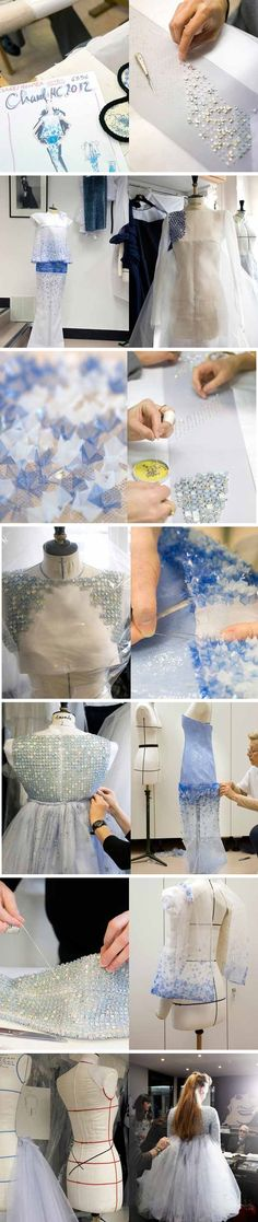 Fashion Atelier - the making of a haute couture dress - dressmaking; fashion design behind the scenes; fashion studio // Chanel