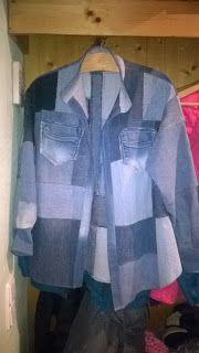 karinskreativeshaus: Jeansjacke Denim, Fashion, Vestidos, Jackets, Breien, Moda, Fashion Styles, Fashion Illustrations, Jeans