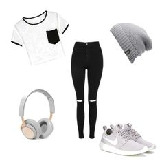 A fashion look from October 2016 featuring crop t shirt, high-waisted jeans and nike sneakers. Browse and shop related looks. High Waist Jeans, The North Face, Topshop, Outfit Ideas, Fashion Looks, Sneakers Nike, Play, Polyvore, T Shirt