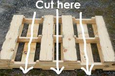 Pallet Wine Rack cut guide