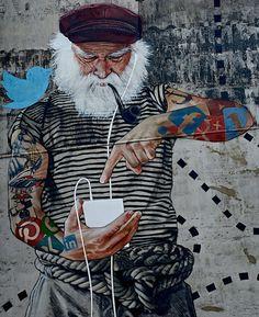 Fischersnetz - Street Art by Innerfields in Hamburg, Germany   Street Art Utopia