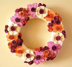 DIY Tutorial DIY Wreath / DIY Paper Flower Wreath - Bead&Cord