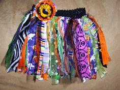 Little girls Fabric ribbon tulle Halloween TU by BowsandDivaThings