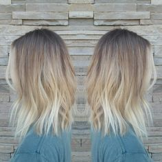 71 most popular ideas for blonde ombre hair color - Hairstyles Trends Brown Ombre Hair, Ombre Hair Color, Hair Colors, Carré Long Wavy, Long Bob Blonde, Short Hair Styles, Natural Hair Styles, Hair Color And Cut, Balayage Hair