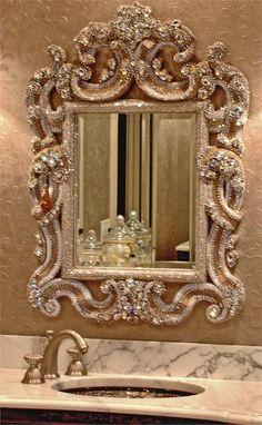 Espejos de baño/ espejos de lujo: Toda una joya este espejo de baño! #espejodebaño #bañosdelujo
