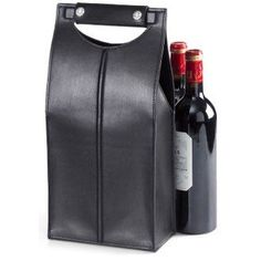<h2>2 Bottle Leather Wine Tote, Ouinley Black</h2> <p> <ul> <li>Dimensions: 15 x 7.25 x 4 inches</li> </ul> </p> <ul> <li>Safely and stylishly carry your favorite vino.</li> </ul>