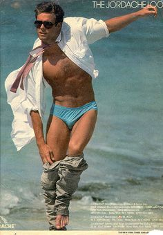 Jordache Look Ad 1985....I was 20 yrs old in 85' and I have to say, I've never, ever seen this Jordache ad before? Looking back this guy must be humiliated today? ...lolololol...