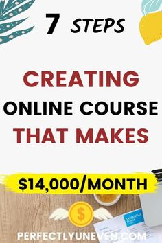 Make Money Selling Online Courses - Perfectly Uneven - Online Course Creation Online Income, Earn Money Online, Online Jobs, Make Easy Money, Make Money From Home, How To Make, Make Money Today, Start A Business From Home, Online Business Opportunities