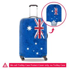 Dispalang Elastic Luggage Covers Australian Flag Print Travel Accessories on Road Protective Suitcase Cover For 18-30 inch Case