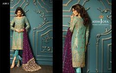The Famoules Brand New Collection 2017 Asim jofa (Replica) Front chiffon dori work Back chiffon dori work Seleeves Chiffon Dori work Dupatta, chiffon dori work pallu EMB Trouser Dori Embroidery less Havy dori Embroided Daman WhatsApp: Pakistani Outfits, Pakistani Clothing, Pakistani Designers, Formal Wear, Chiffon Dress, Nice Tops, Dress Collection, Indian Fashion, Designer Dresses
