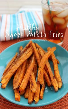 Sweet Potato Fries - These are great for snacking on and are super healthy (much better than deep fried french fries). Sweet potatoes are great for weight loss!